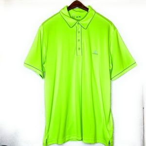 Adidas Golf Neon Green Shirt NWT